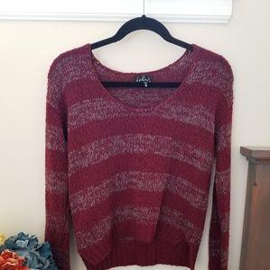 Maroon xs talula wool sweater.